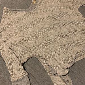 Gray asymmetrical sweater